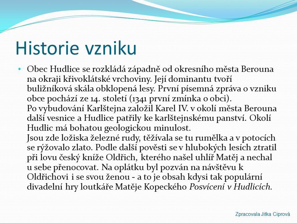 HUDLICE Zpracovala Jitka Ciprová