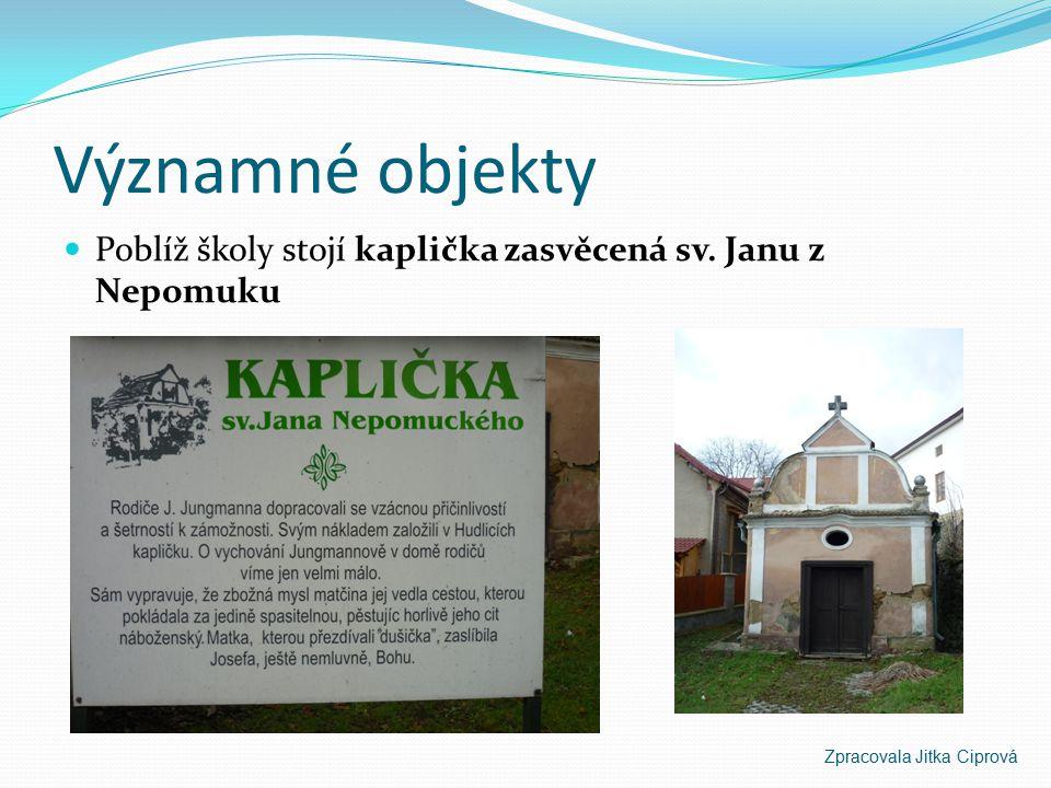 Významné objekty Nedaleko kostela se nachází rodný dům J.Jungmanna. Zpracovala Jitka Ciprová