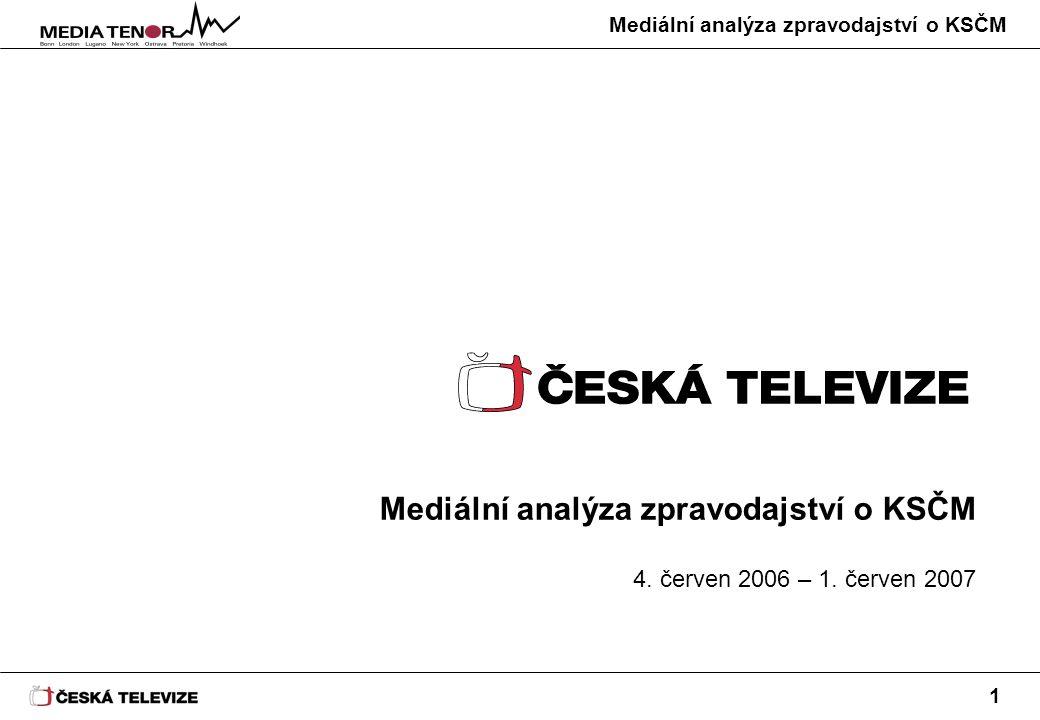 Mediální analýza zpravodajství o KSČM 12 KSČM a KDU-ČSL byly v rámci Událostí zmiňovány s obdobným podílem negativity (21, 20 %).