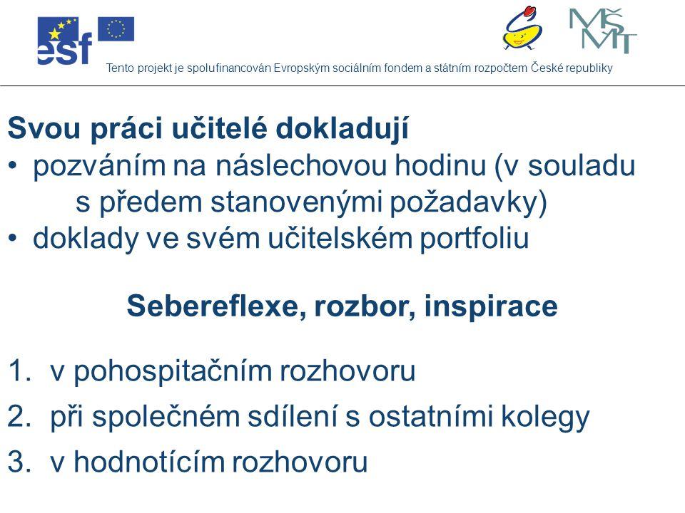 Každý učitel ve školním roce 2007/2008 Tento projekt je spolufinancován Evropským sociálním fondem a státním rozpočtem České republiky 1.