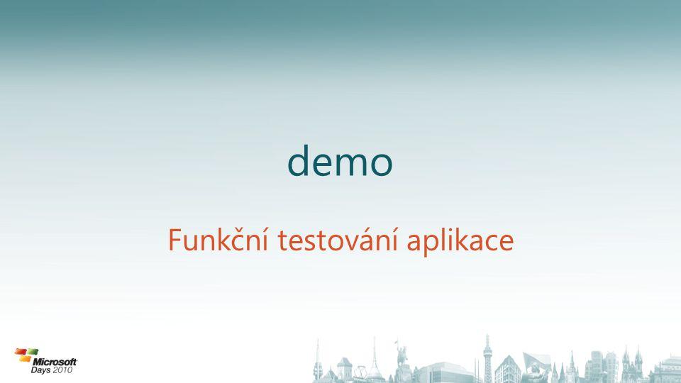 demo Funkční testování aplikace