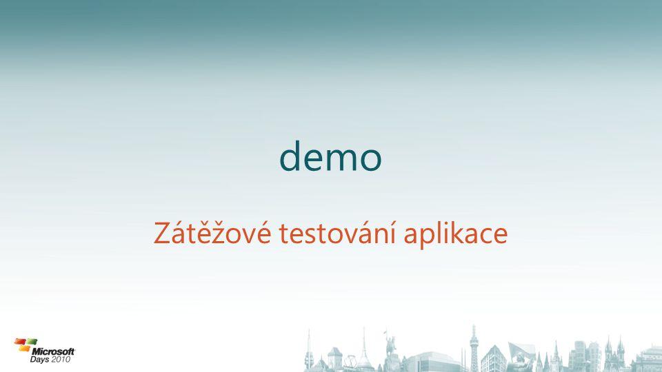demo Zátěžové testování aplikace