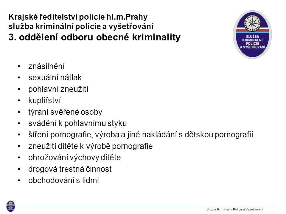 Hlavní město Praha - druhy kriminality a procento objasnění 2009 2010 Vraždy Zjištěno 34 22 Objasněno 29 19 tj.