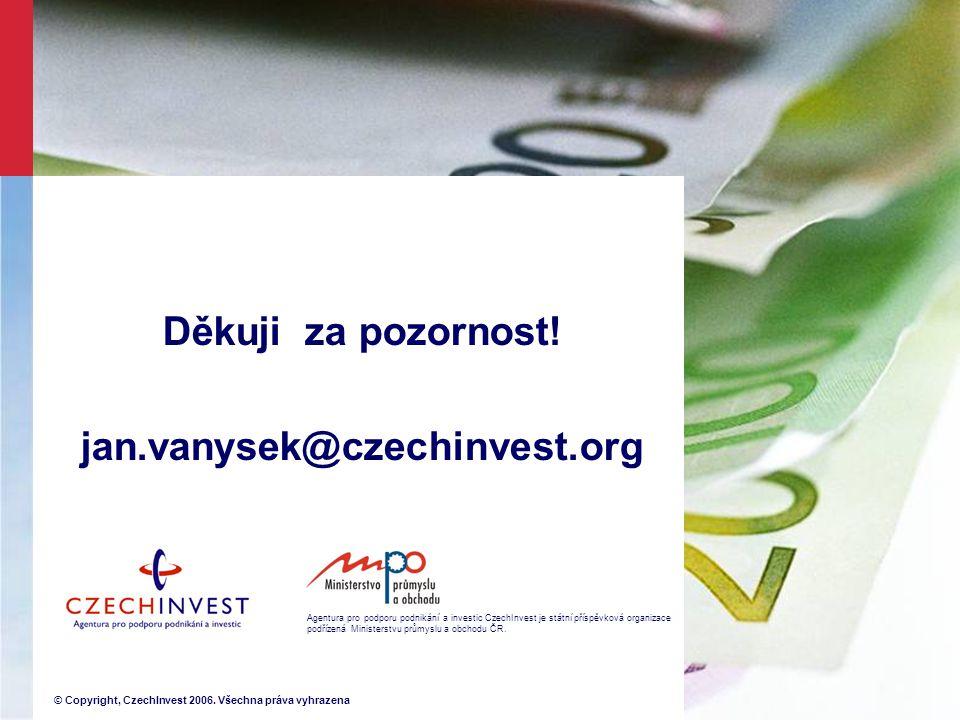 Agentura pro podporu podnikání a investic CzechInvest je státní příspěvková organizace podřízená Ministerstvu průmyslu a obchodu ČR.