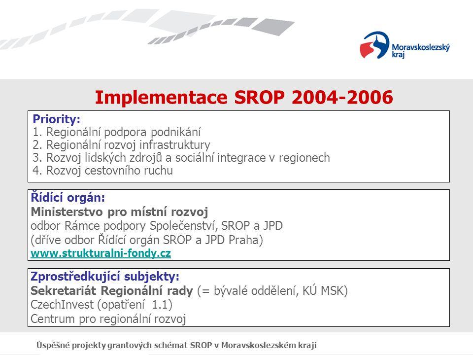 Úspěšné projekty grantových schémat SROP v Moravskoslezském kraji Děkuji Vám za pozornost a přeji krásný den.