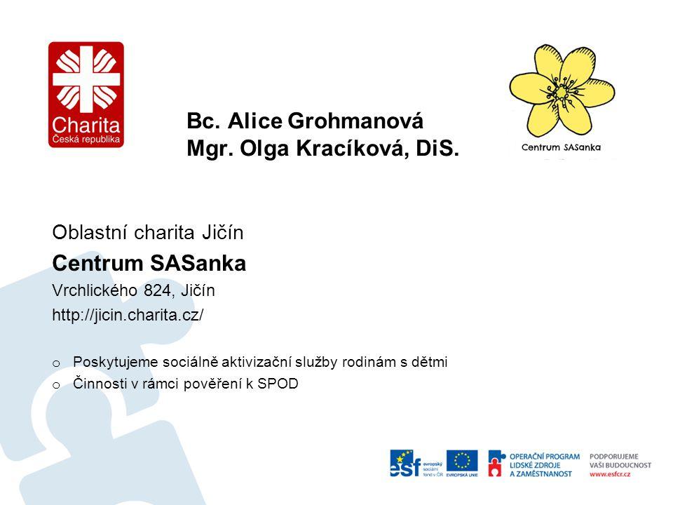Bc.Alice Grohmanová Mgr. Olga Kracíková, DiS.