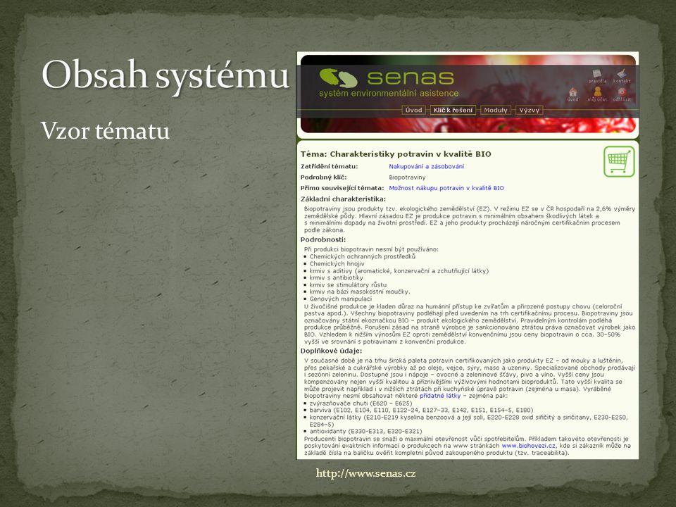 Vzor tématu http://www.senas.cz