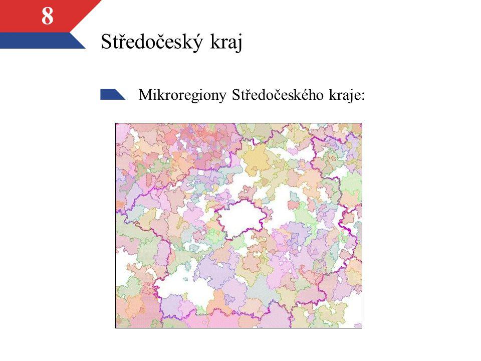 8 Středočeský kraj Mikroregiony Středočeského kraje: