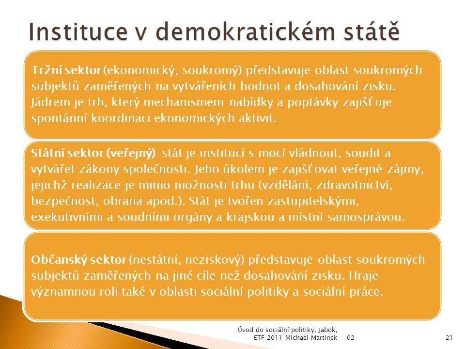Tržní sektor (ekonomický, soukromý) představuje oblast soukromých subjektů zaměřených na vytvářeních hodnot a dosahování zisku.