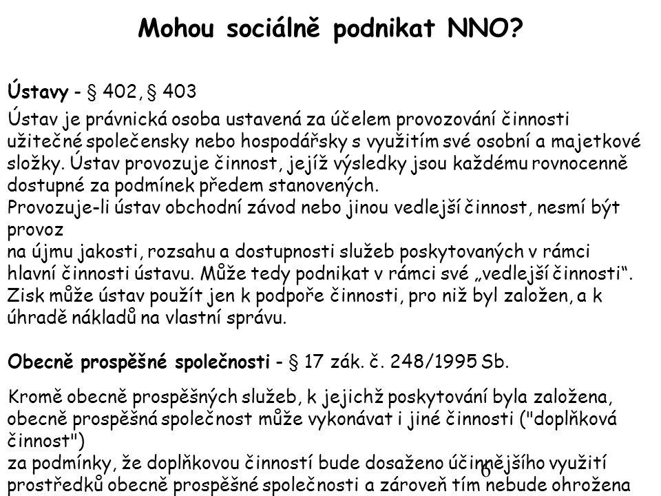 6 Mohou sociálně podnikat NNO.