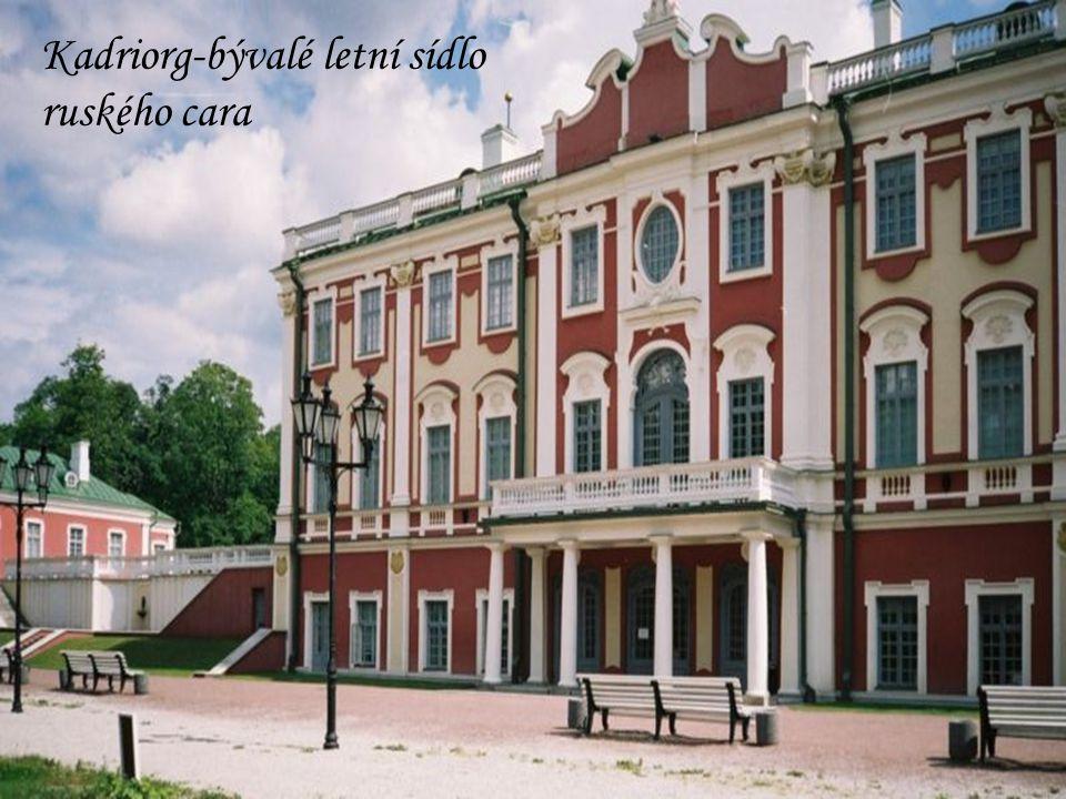 Kadriorg-bývalé letní sídlo ruského cara