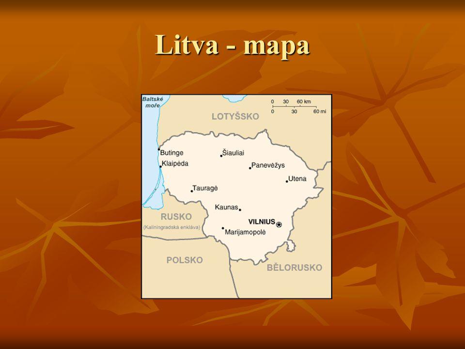 Litva - mapa