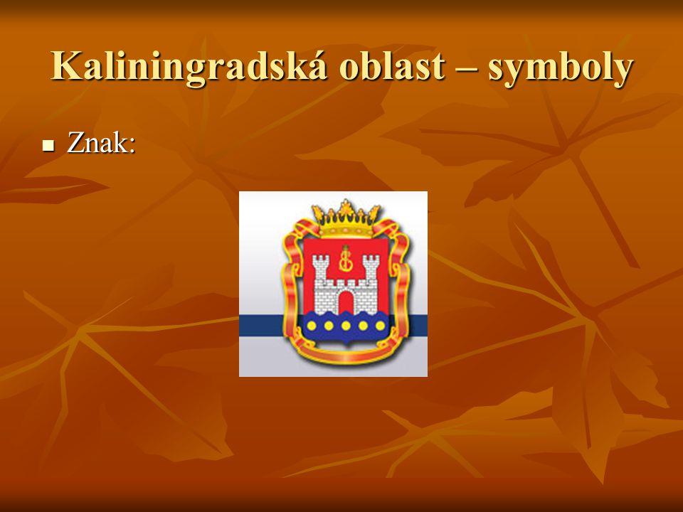 Kaliningradská oblast – symboly Znak: Znak: