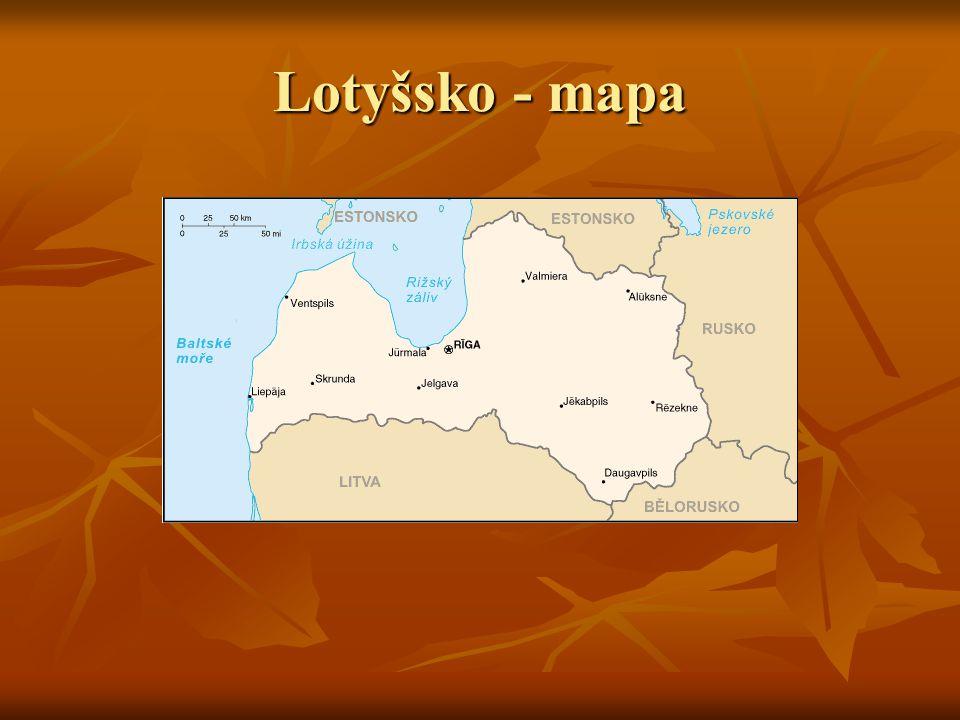 Lotyšsko - mapa