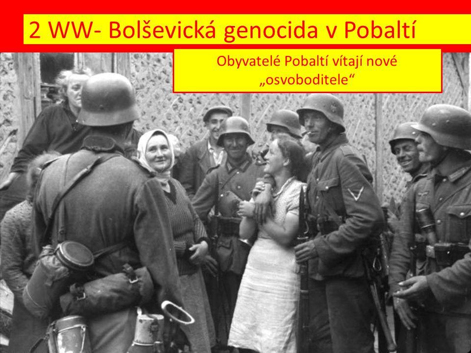 """Obyvatelé Pobaltí vítají nové """"osvoboditele"""""""