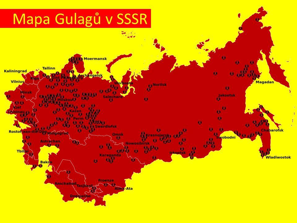 Mapa Gulagů v SSSR