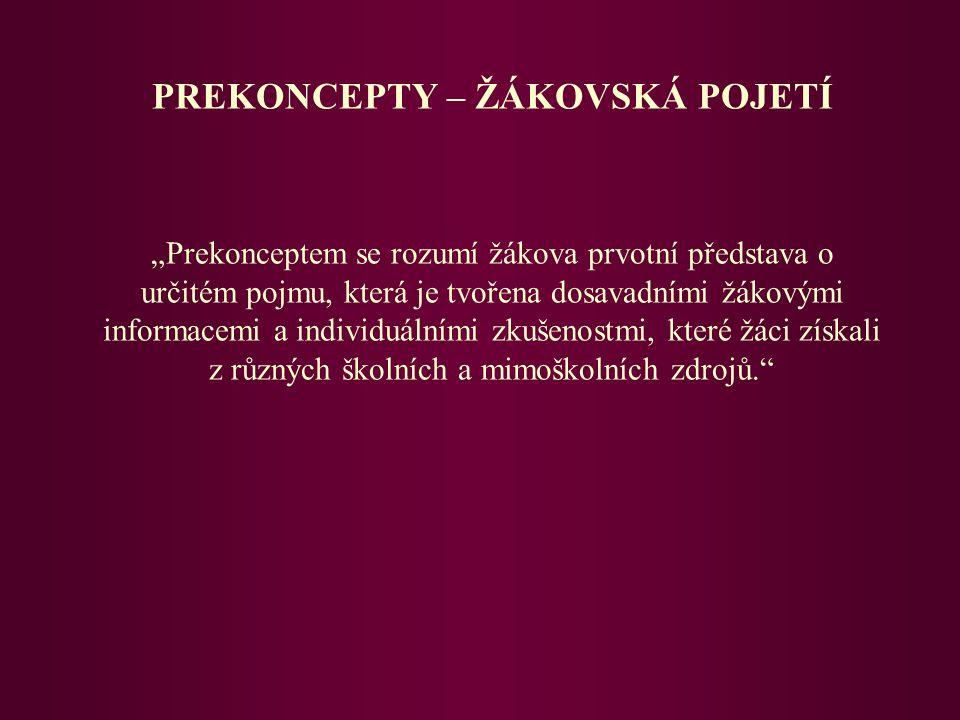 POJMOVÉ MAPY - 5. ročník