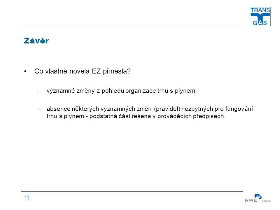 11 Závěr Co vlastně novela EZ přinesla.