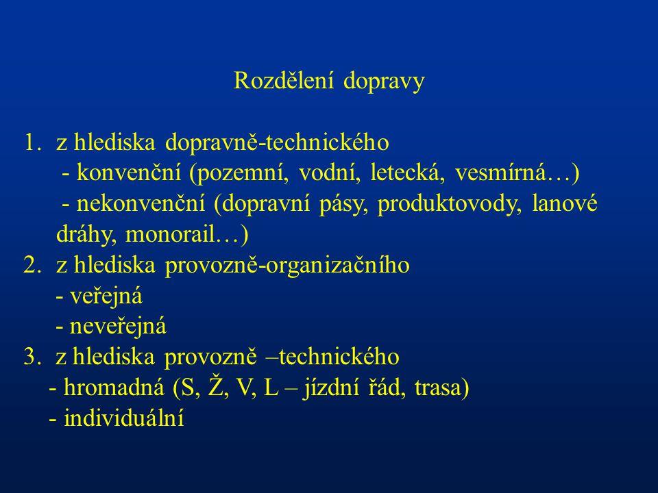 Vztah mezi velikostí města a možnostmi dopravy vyjadřuje např.: -Hustota sítě komunikací Praha 7,1 km/km2 Brno 4,3 Ostrava 5,0 Drážďany 9,3 -Podíl ploch pro dopravu v centrech středoevropských měst 24 – 28 % komunikace + chodníky