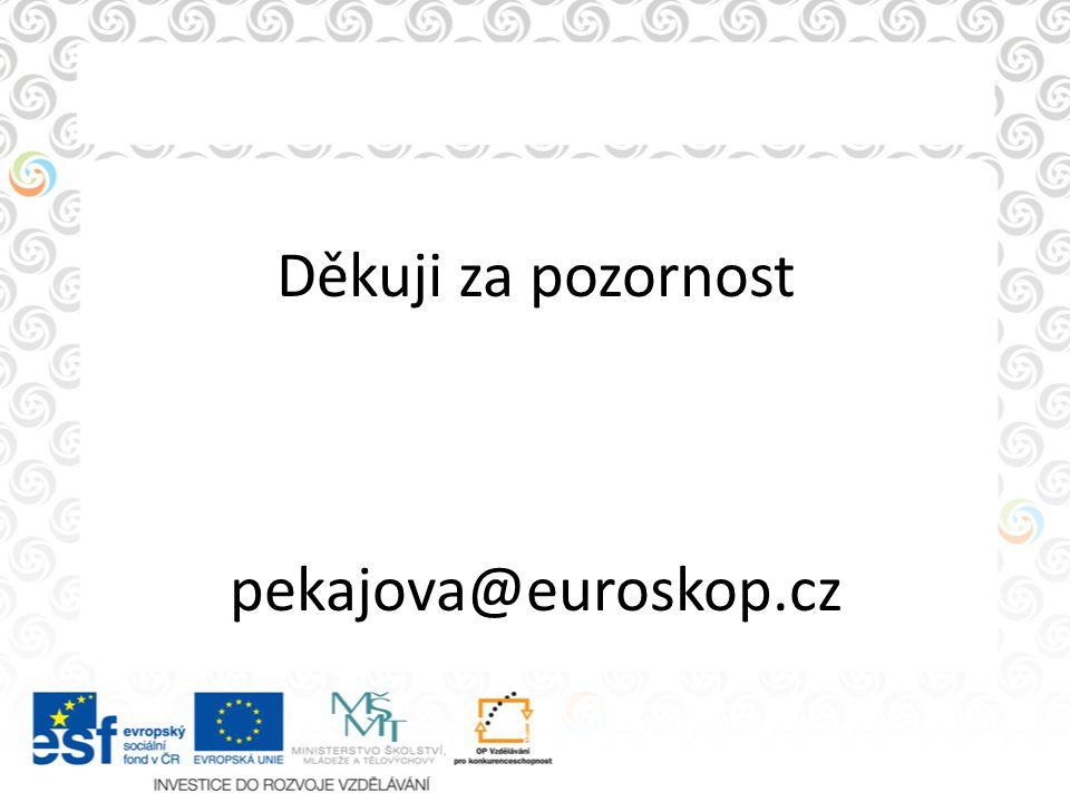 Děkuji za pozornost pekajova@euroskop.cz