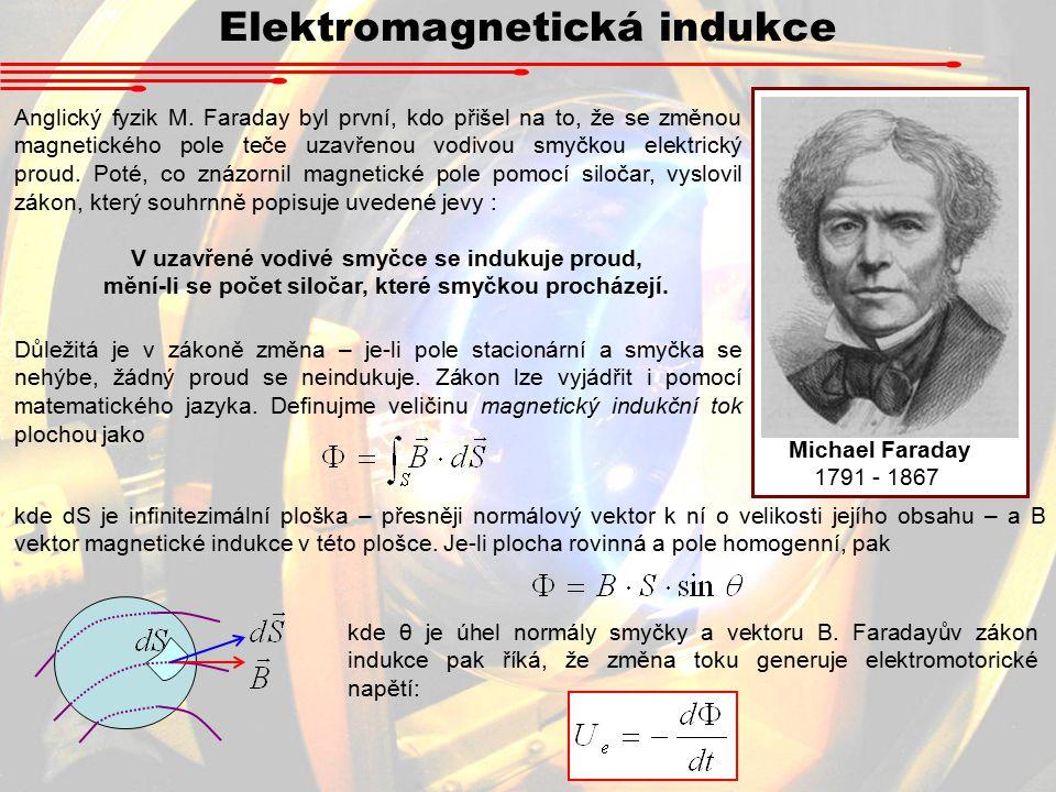 Elektromagnetická indukce Anglický fyzik M.