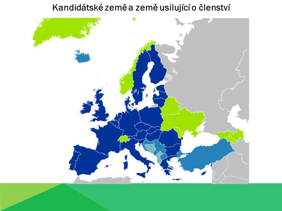 Kandidátské země a země usilující o členství