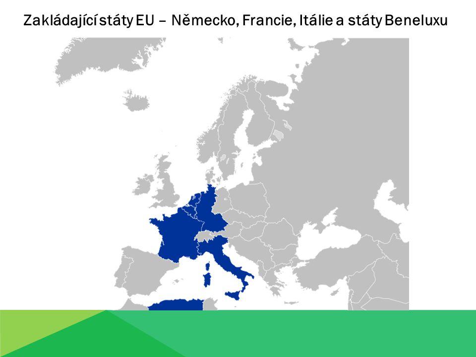 Zakládající státy EU – Německo, Francie, Itálie a státy Beneluxu