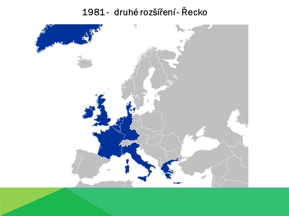 1981 - druhé rozšíření - Řecko