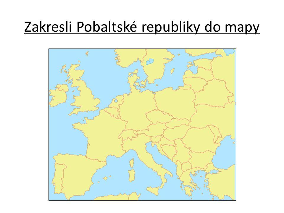 Zakresli Pobaltské republiky do mapy