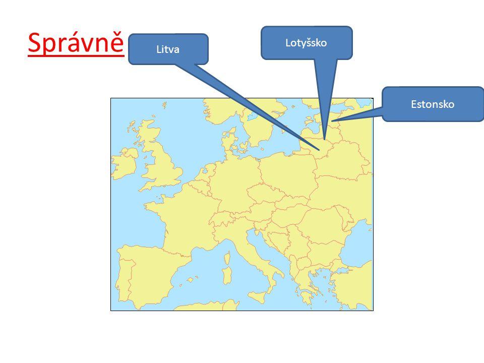 Správně Litva Lotyšsko Estonsko