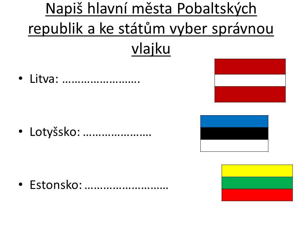 Správně Litva- Vilnius Lotyšsko- Riga Estonsko- Tallinn