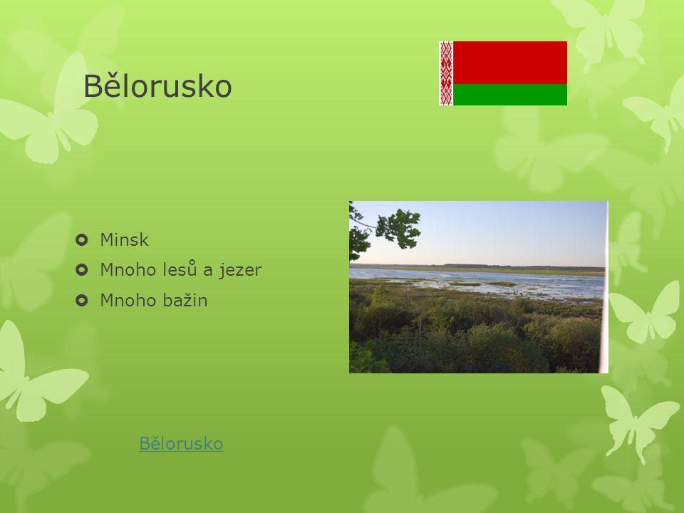 Bělorusko  Minsk  Mnoho lesů a jezer  Mnoho bažin Bělorusko