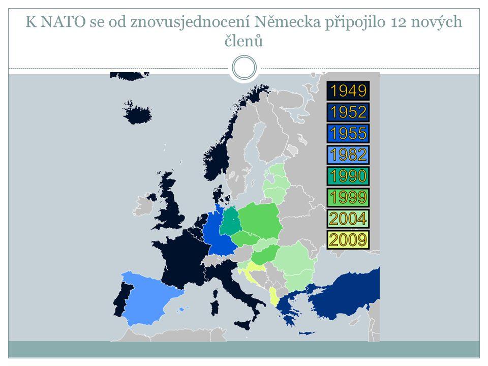 K NATO se od znovusjednocení Německa připojilo 12 nových členů