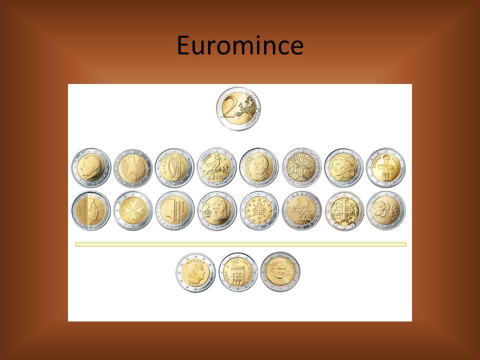 Euromince a eurobankovky Které hodnoty euromincí existují.
