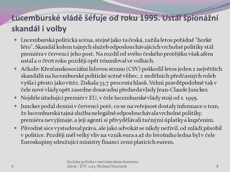 Lucemburské vládě šéfuje od roku 1995.