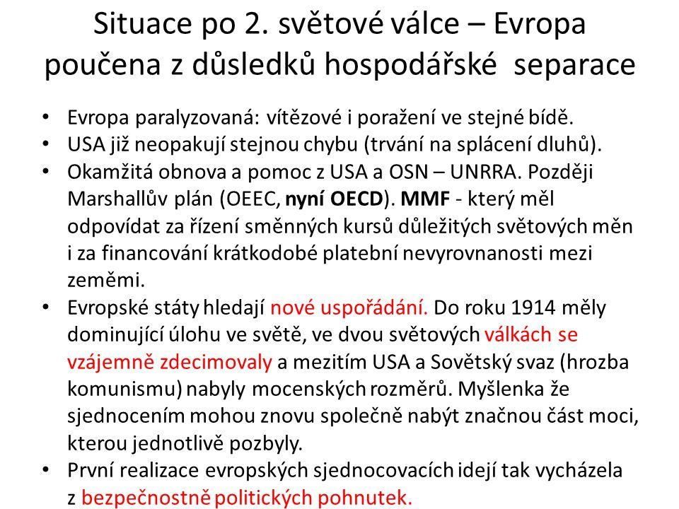 Evropské sdružení uhlí a oceli ESUO (strategické suroviny) – zárodek EU V r.
