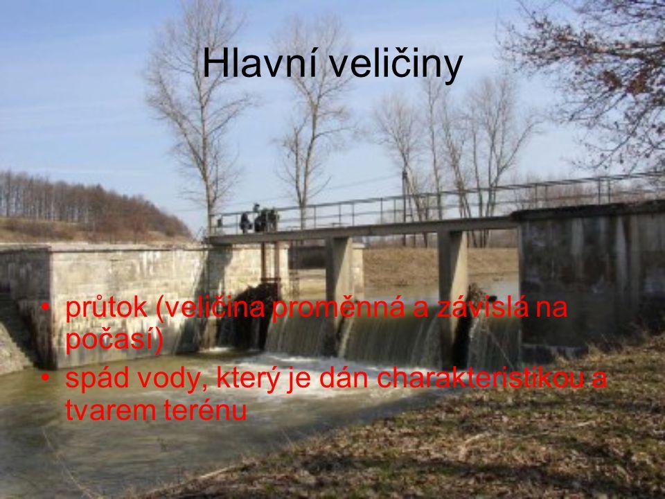 Jednotlivé části MVE Vzdouvací zařízení Slouží ke vzdutí vodní hladiny a usměrnění toku vody do přivaděče (přehradní hráz, jez) 1.HRÁZ - mají větší výšku vzdutí, větší objem zadržené vody a plochu zaplavovaného území 2.JEZ - nižší výška vzdutí a podstatně menší objem zadržené vody