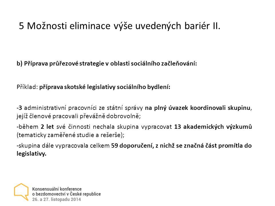 5 Možnosti eliminace výše uvedených bariér II.