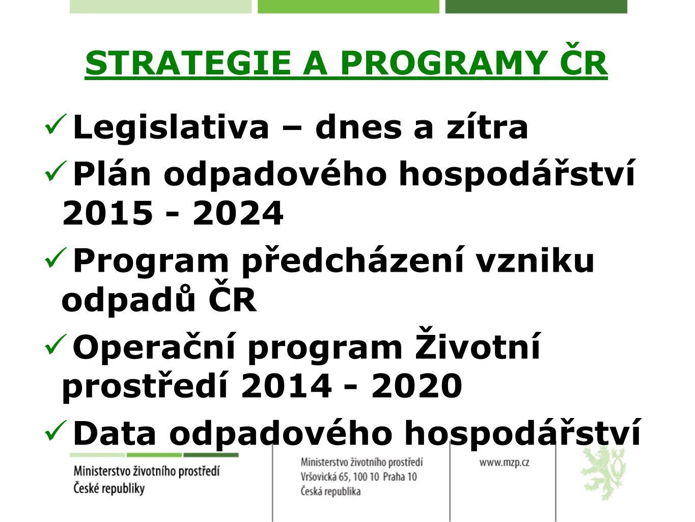 Program předcházení vzniku odpadů Návrh Programu zveřejněn (od 12.