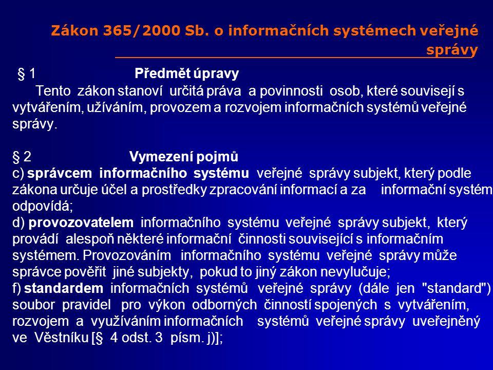 Zákon 365/2000 Sb.