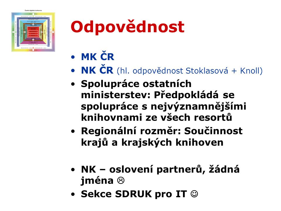 Odpovědnost MK ČR NK ČR (hl.