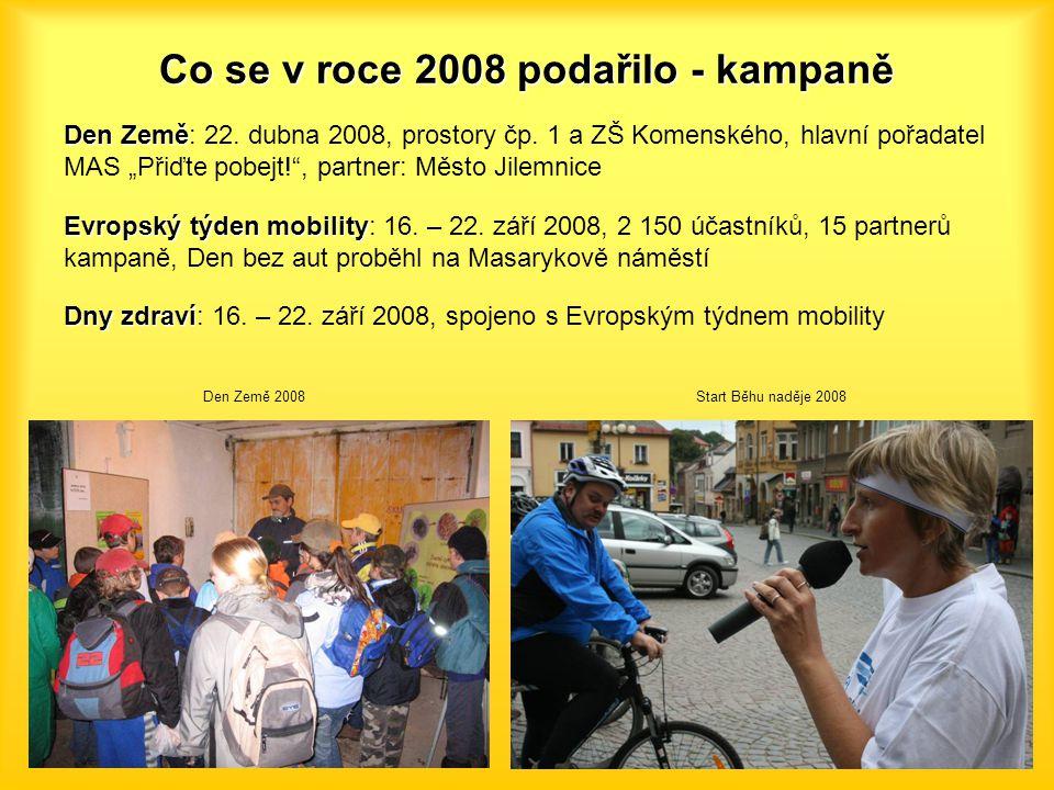 """Co se v roce 2008 podařilo - kampaně Den Země Den Země: 22. dubna 2008, prostory čp. 1 a ZŠ Komenského, hlavní pořadatel MAS """"Přiďte pobejt!"""", partner"""
