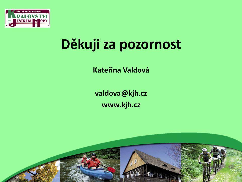 Děkuji za pozornost Kateřina Valdová valdova@kjh.cz www.kjh.cz