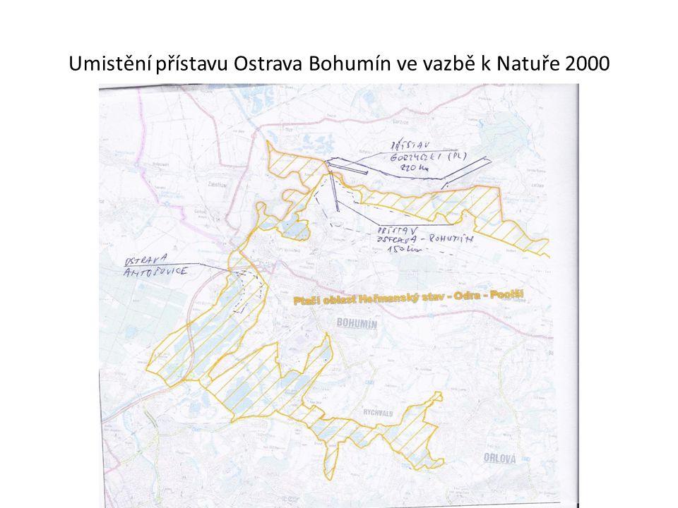 Umistění přístavu Ostrava Bohumín ve vazbě k Natuře 2000