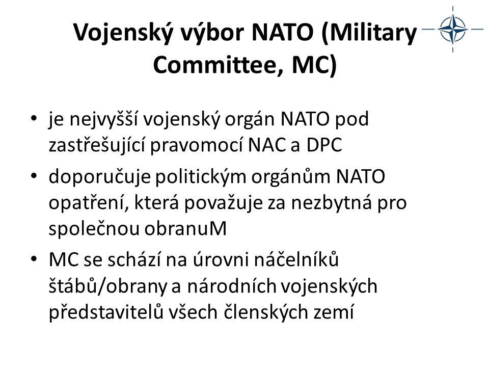 Vojenský výbor NATO (Military Committee, MC) je nejvyšší vojenský orgán NATO pod zastřešující pravomocí NAC a DPC doporučuje politickým orgánům NATO o