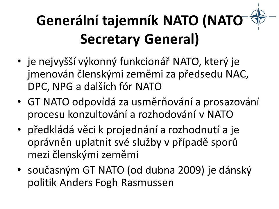 Generální tajemník NATO (NATO Secretary General) je nejvyšší výkonný funkcionář NATO, který je jmenován členskými zeměmi za předsedu NAC, DPC, NPG a d