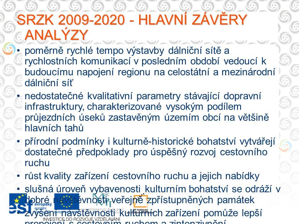 SRZK 2009-2020 - HLAVNÍ ZÁVĚRY ANALÝZY poměrně rychlé tempo výstavby dálniční sítě a rychlostních komunikací v posledním období vedoucí k budoucímu na