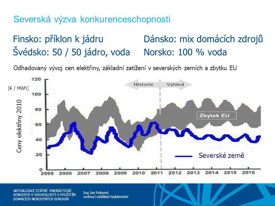 Ing Jan Pokorný vedoucí oddělení teplárenství AKTUALIZACE STÁTNÍ ENERGETICKÉ KONCEPCE V SOUVISLOSTI S VYUŽITÍM DOMÁCÍCH NEROSTNÝCH SUROVIN Severská vý