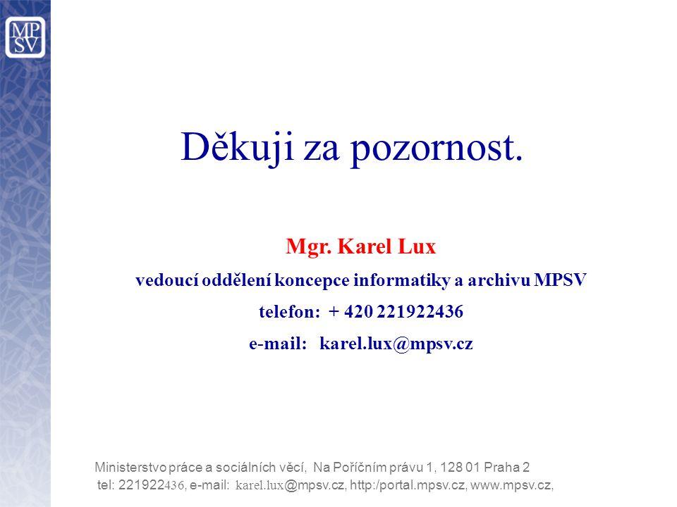 tel: 221922 436, e-mail: karel.