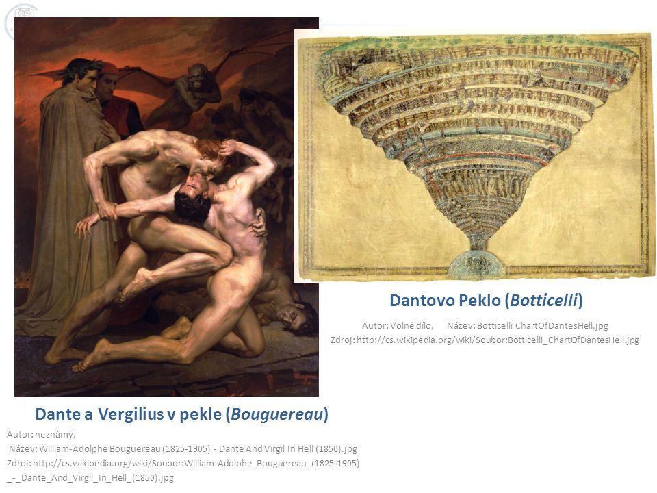 Dante a Vergilius v pekle (Bouguereau) Autor: neznámý, Název: William-Adolphe Bouguereau (1825-1905) - Dante And Virgil In Hell (1850).jpg Zdroj: http
